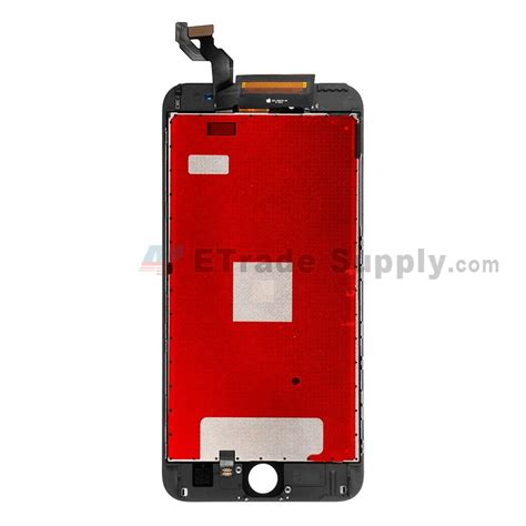apple iphone 6s plus lcd and digitizer assembly with frame black etrade supply