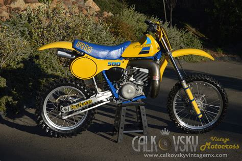 Suzuki Dirtbike Parts 1984 Suzuki Rm 500 Vintage Motocross Dirt Bike