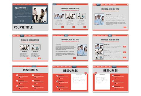 Business Gray Template Downloads E Learning Heroes Elearning Templates Storyline