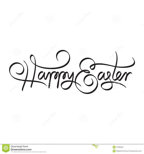 Handmade Calligraphy - happy easter lettering stock vector image 37885023