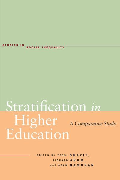 cite stratification in higher education a comparative