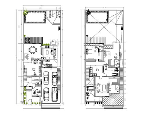 house plan dwg two storey house plan cad drawing cadblocksfree cad blocks free