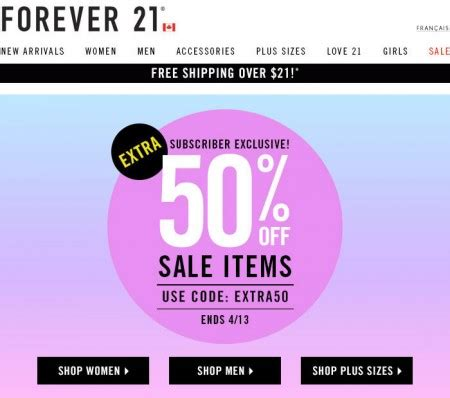 Forever 21 Gift Card Promo Code - forever 21 sale on sale extra 50 off sale items promo code until apr 13