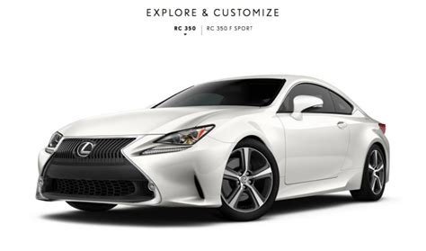 Rc Auto Konfigurator by Lexus Rc Coupe Configurator Launched