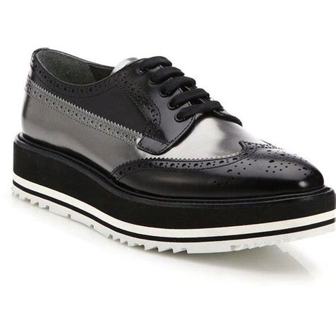 prada oxford shoes womens prada spazzalato leather platform brogues 16 155 mxn