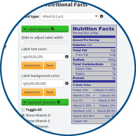 supplement facts label design requirements create your own fda approved nutrition fact labels with