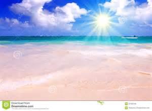 caribbean dream beach and sunshine royalty free stock