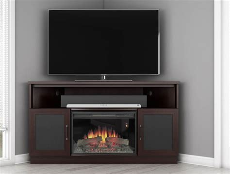 curved electric fireplace in wenge finish express home decor