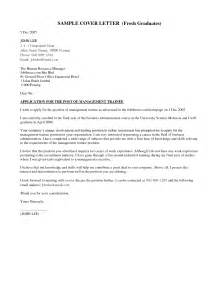 Cover Letter Graduate Management Trainee
