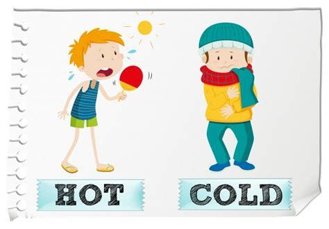 imagenes en ingles hot adjetivos opuestos calientes y fr 237 os descargar vectores