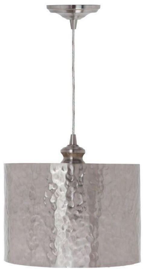 Brushed Nickel Pendant Lighting Kitchen Hammered Brushed Nickel Ceiling Hanging Pendant Home Kitchen Lighting Fixture Ebay