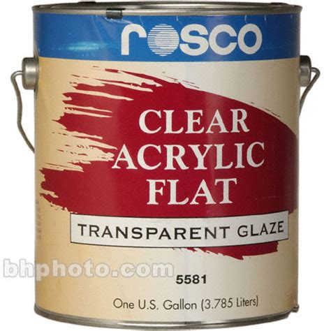 acrylic paint glaze rosco clear flat acrylic glaze 150055810128 b h photo