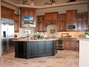 oak cabinets kitchen ideas best color floor with oak cabinets house furniture
