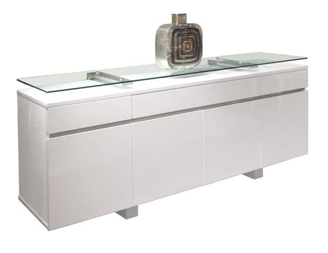 Desk With Hutch And Drawers Modern White Lacquer Credenza With Glass Top Shelf