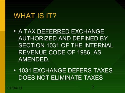 section 1031 internal revenue code 1031 exchange