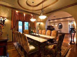 Mansion Dining Rooms by Nevada Mansion With Its Own Backyard Water Park Makes A