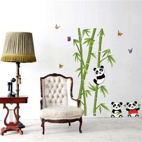 panda wallpaper for bedroom cute panda bamboo diy vinyl wall stickers home decor art decals wallpaper bedroom sofa