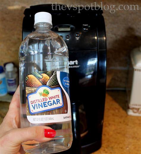 clean your coffee maker using vinegar the v spot
