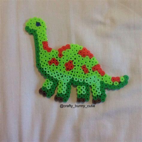 perler dinosaur dino perler by crafty bunny cutie hama crafts
