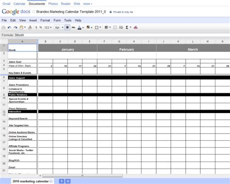 Free Excel Marketing Calendar Template Marketing Schedule Template
