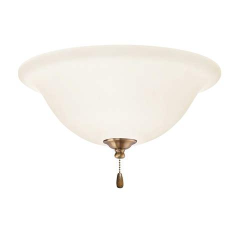 home depot emerson ceiling fans emerson opal matte 3 light antique brass ceiling fan light