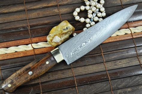 handmade kitchen knives uk custom made chef s knife damascus steel ideal for