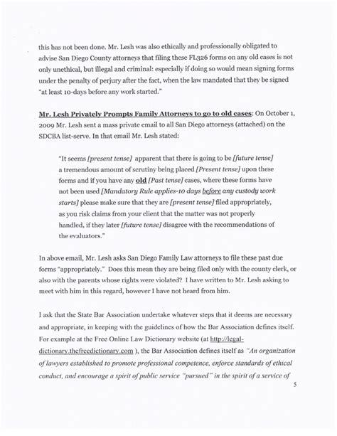 Complaint Letter To Bar Council Sle Complaint Letter To Bar Council Cover Letter Templates