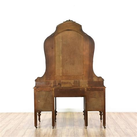 antique vanity ornate depression era furniture triple mirror antique depression era vanity mirror loveseat vintage