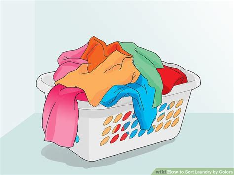washing colors 3 ways to sort laundry by colors wikihow