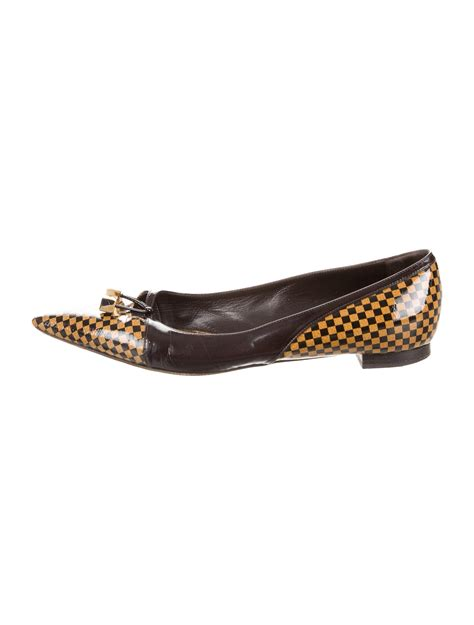 flat shoes louis vuitton louis vuitton pointed toe damier ebene flats shoes