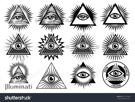 illuminati symbol eye illuminati symbols masonic sign all seeing stock vector
