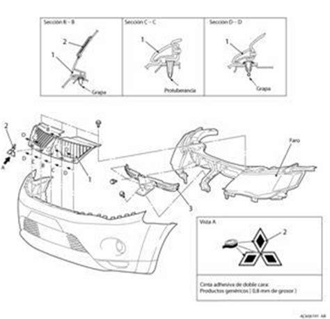 Grill Pajero Sport Mitsubishi 2009 2010 diagram of removing a grill from a 2009 mitsubishi tundra