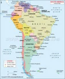 boundary map of south america america map