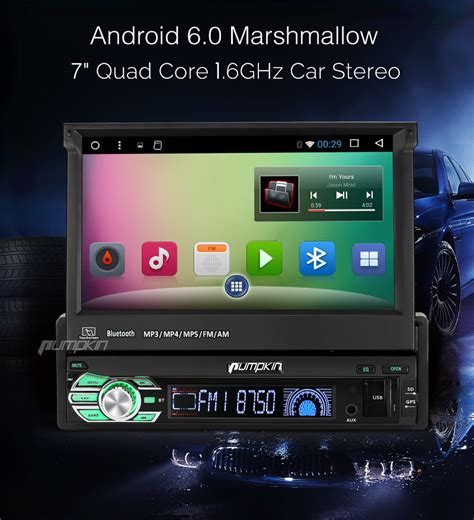 best android car stereo 7 quot android 6 0 single din car radio stereo gps obd 3g mirror link dab subwoofer ebay