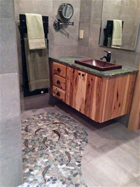 rock flooring bathroom decorative ceramic tile trout hand made trout shower tiles for custom ceramic tile