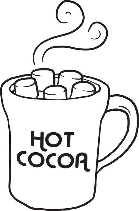 free printable cup of hot cocoa coloring page for kids
