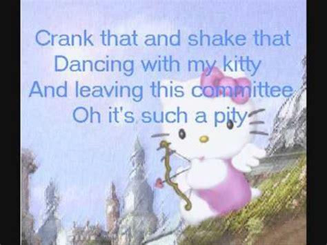 theme song of hello kitty lyrics blood on the dancefloor i heart hello kitty lyrics