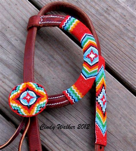 beaded tack custom beaded headstall or bridle for a standard size