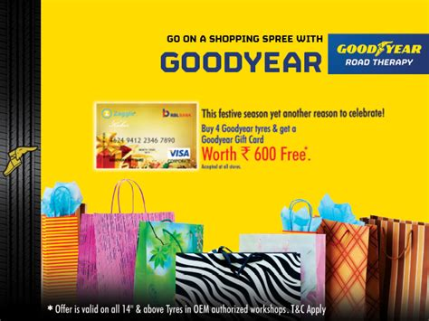Goodyear Gift Card - goodyear gift card offer for oem authorized workshops terms conditions goodyear