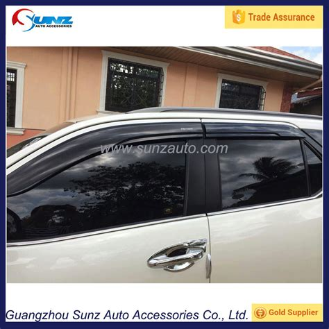 All New Fortuner Talang Air Injection Side Visor Injection 2017 fortuner 2016 suv new pc injection sun visor window visors 2 2 mm visor accessories