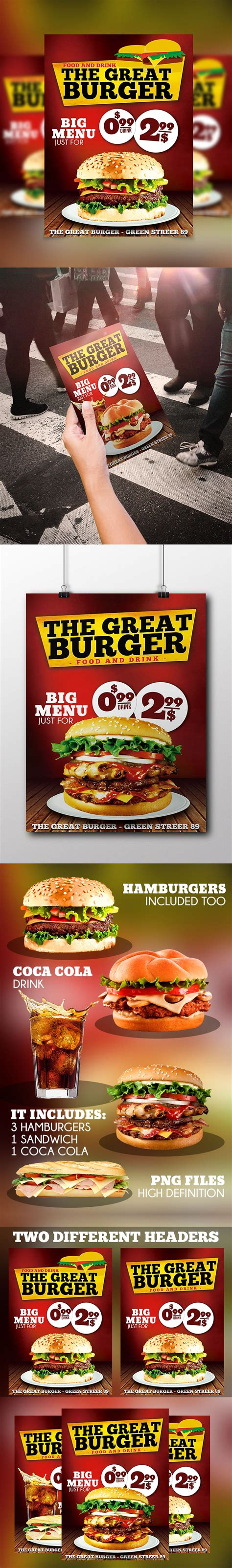 food template psd burger fast food flyer psd template flyer psd