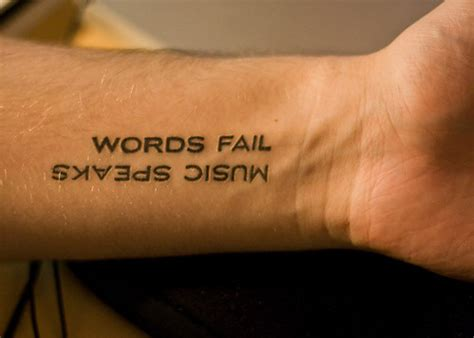 tattoo writing fail tattoo fail music quote text word