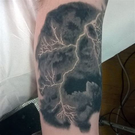 tattoo lightening 100 inner bicep designs for manly ink ideas
