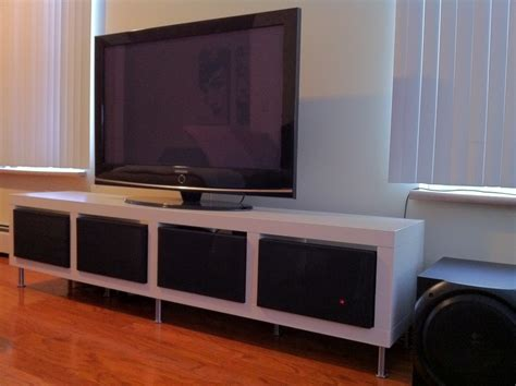 ikea tv cabinet hack clean minimalist tv stand