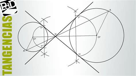 tangentes interiores a dos circunferencias rectas tangentes interiores a dos circunferencias mediante