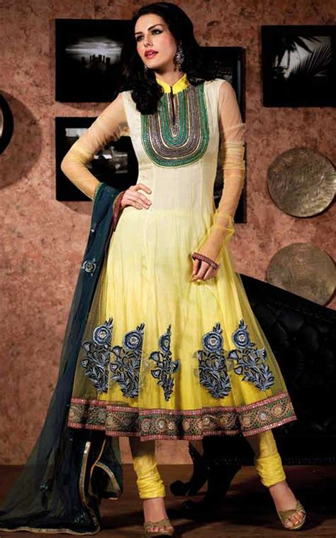 Ready New 2in1 Fashion Picotinea 9117 anarkali salwar kameez with pretty embroidery matching churidar dupatta