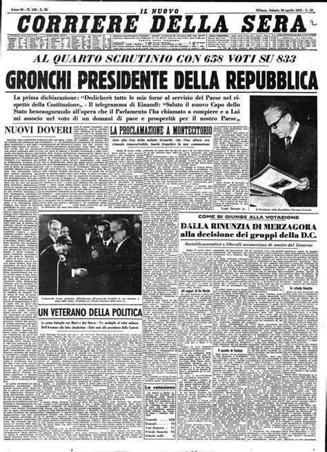 Le elezioni presidenziali nelle prime pagine del Corriere