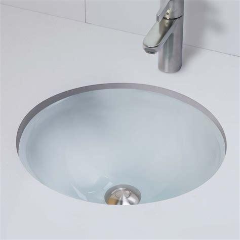 undermount glass bathroom sinks decolav terra 1000tu translucence collection round