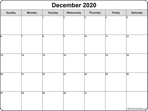 december  calendar  templates   printable calendars