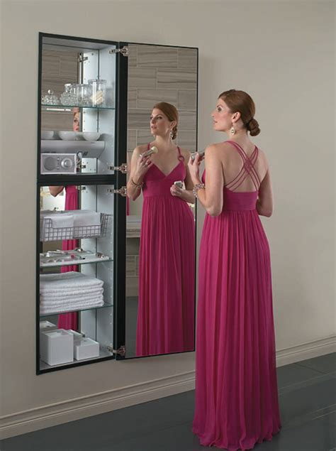 full length bathroom mirror cabinet full length mirror cabinet by robern